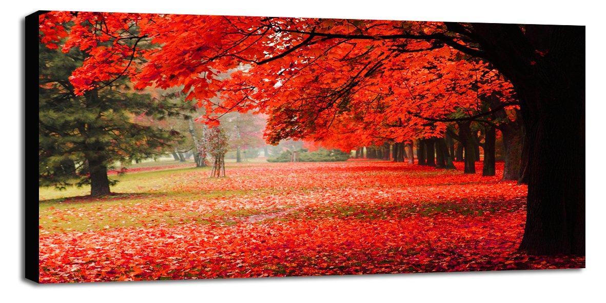 Engardo 60ML53 Canvas Albero Rosso, Multicolore, 130x3x60 cm