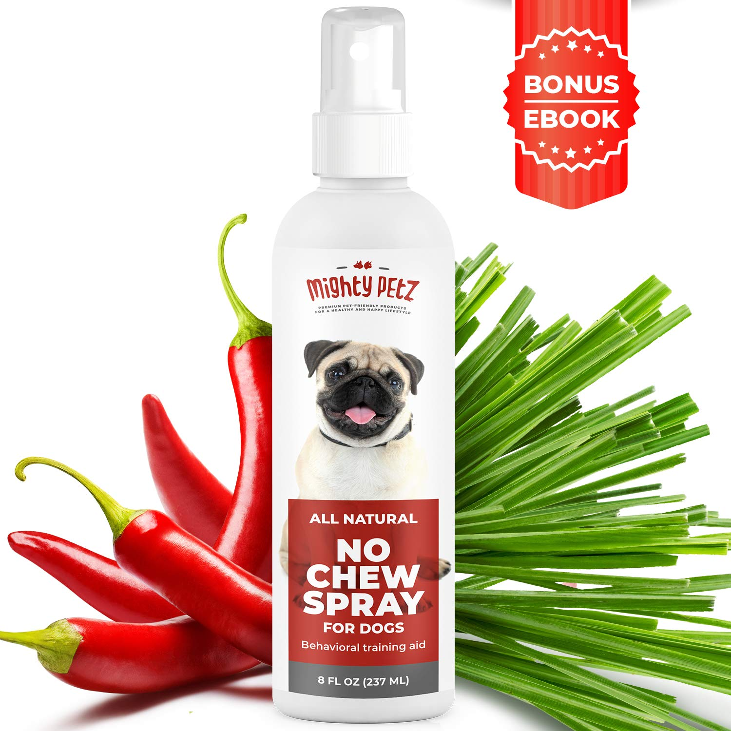 No Chew Spray for Dogs – 100% Natural Dog and Puppy Behavioral Training Aid – Dog Chewing & Biting Repellent – Alcohol…