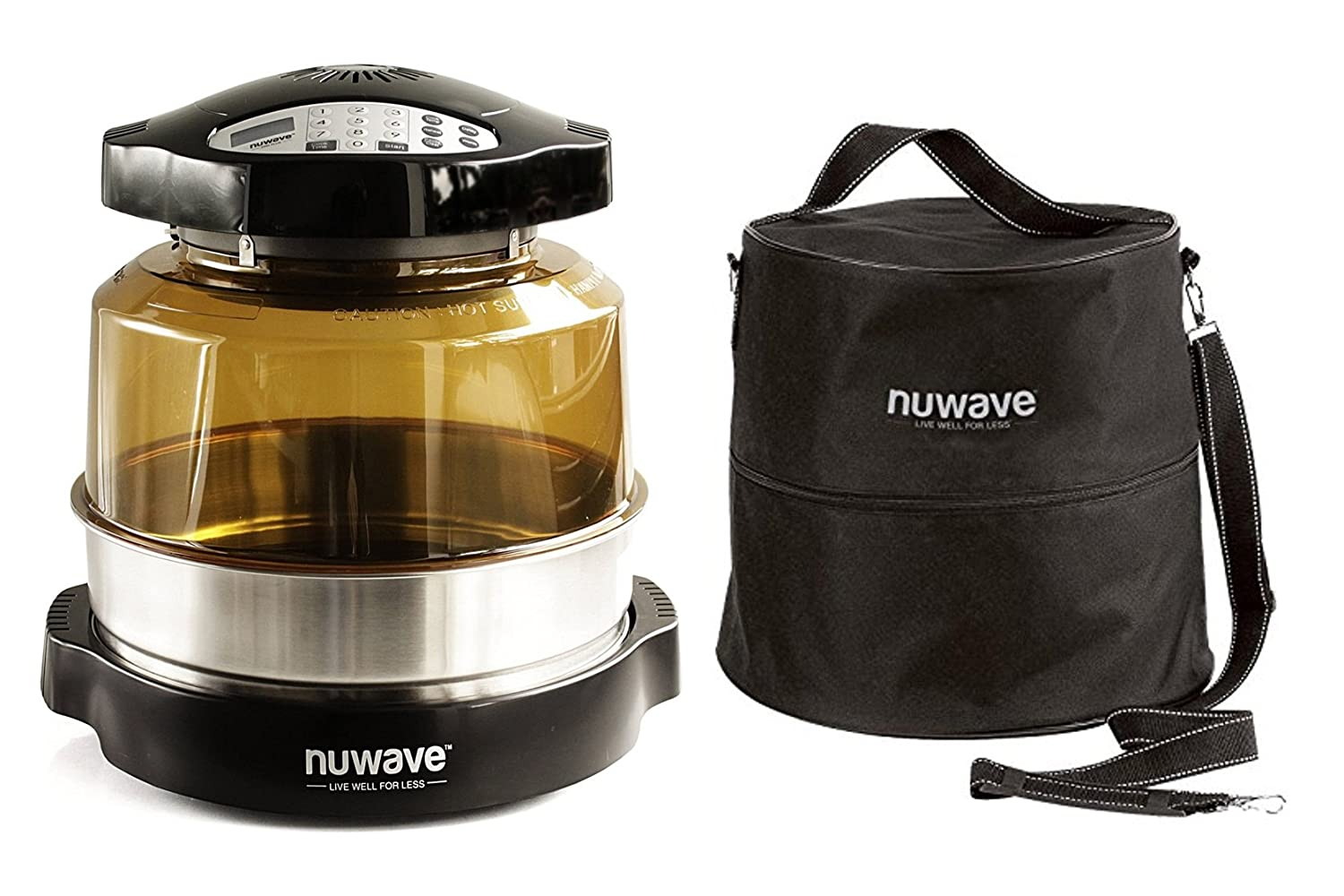 "Nuwave Pro Plus Oven w/3"" Extender Ring & Oven Carry Case with Straps"