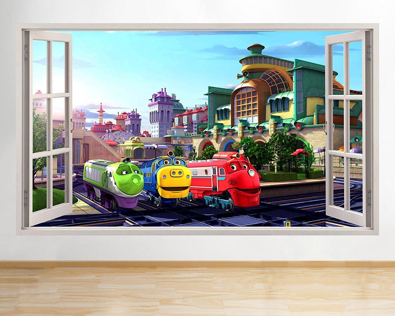 M003 Chuggington Trains Nursery Kid Window Wall Decal 3d Art