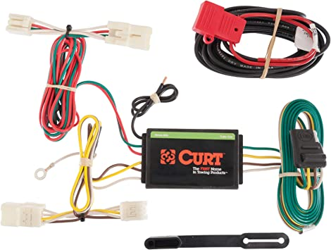 amazon.com: curt 56165 vehicle-side custom 4-pin trailer wiring harness for  select toyota rav4: automotive  amazon.com