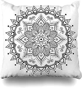 Pillow Cover Flor Libro De Colorear Para Adultos Ronda