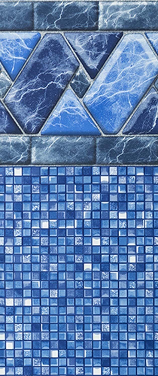 20 Gauge Virgin Vinyl Material 52-Inch Wall Height UniBead Style Heavy-Duty Liners Designed for Steel Sided Above-Ground Swimming Pools Smartline Stone Harbor 24-Foot Round Pool Liner