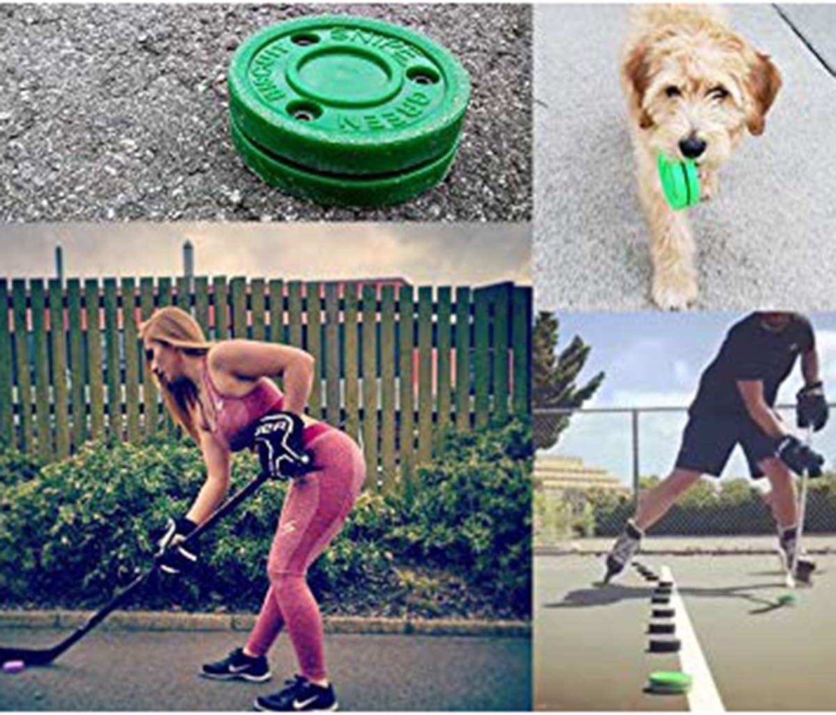 Yunnyp Green Biscuit Practice Training Puck f/ür Street Roller Hockeyschl/äger Snipe Shooting Training