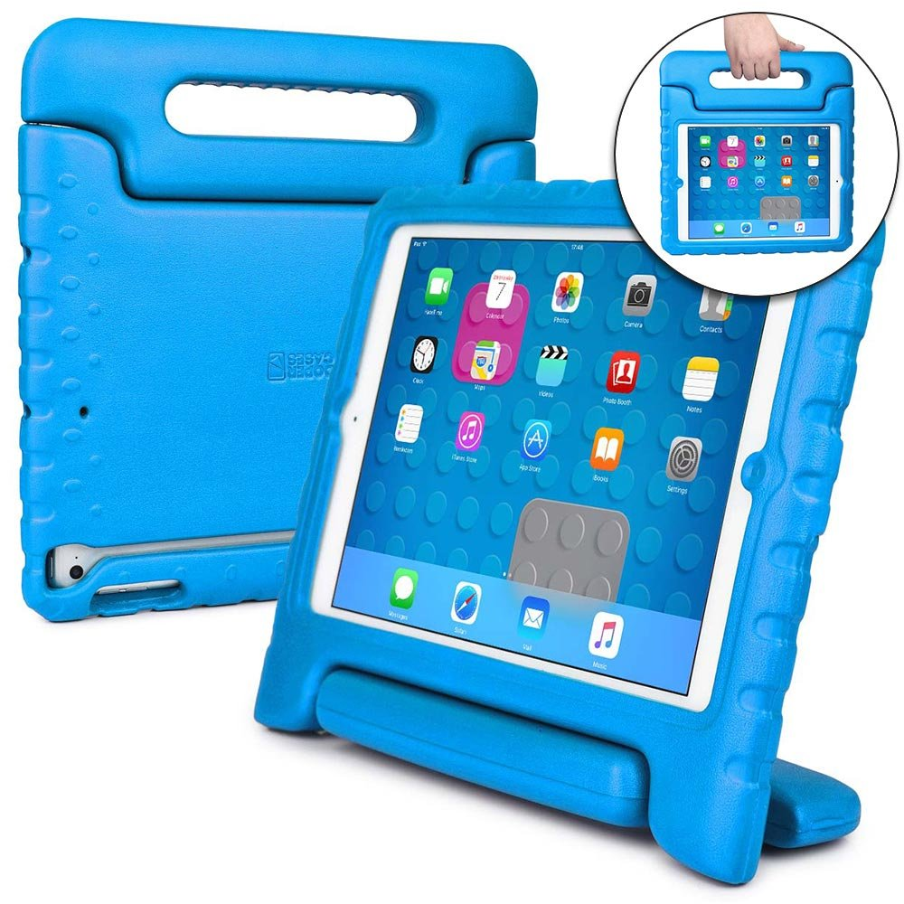 best loved a8eeb face3 Cooper Dynamo [Rugged Kids Case] Protective Case for iPad Air 1 | Child  Proof Cover with Stand, Handle, Screen Protector | A1474 A1475 A1476 (Blue)