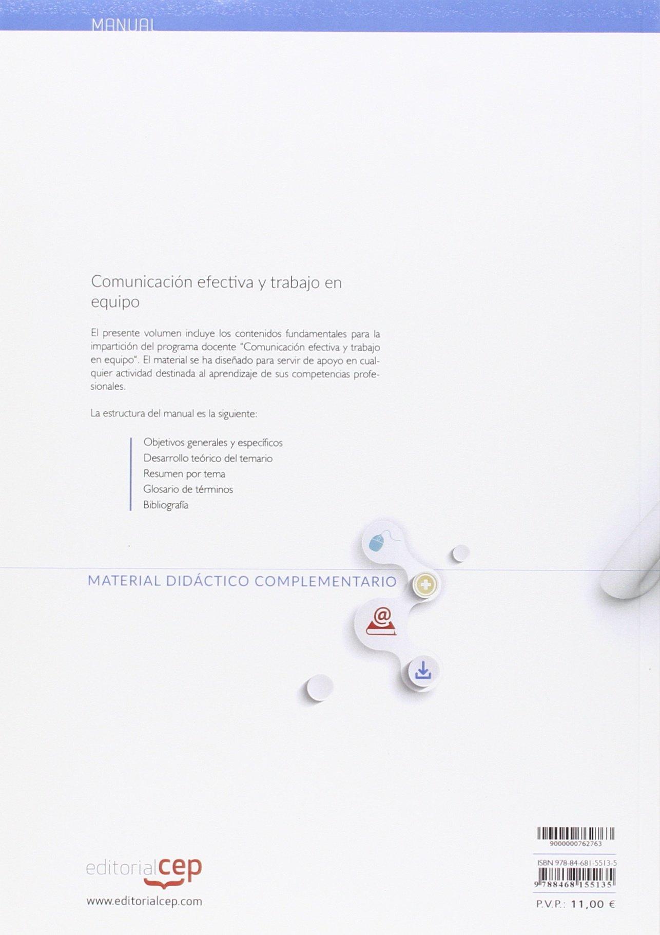 Comunicación efectiva y trabajo en equipo. Manual teórico: Amazon.es ...