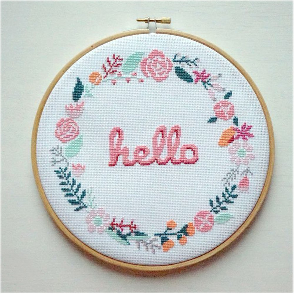 Outuxed Embroidery Hoops hello