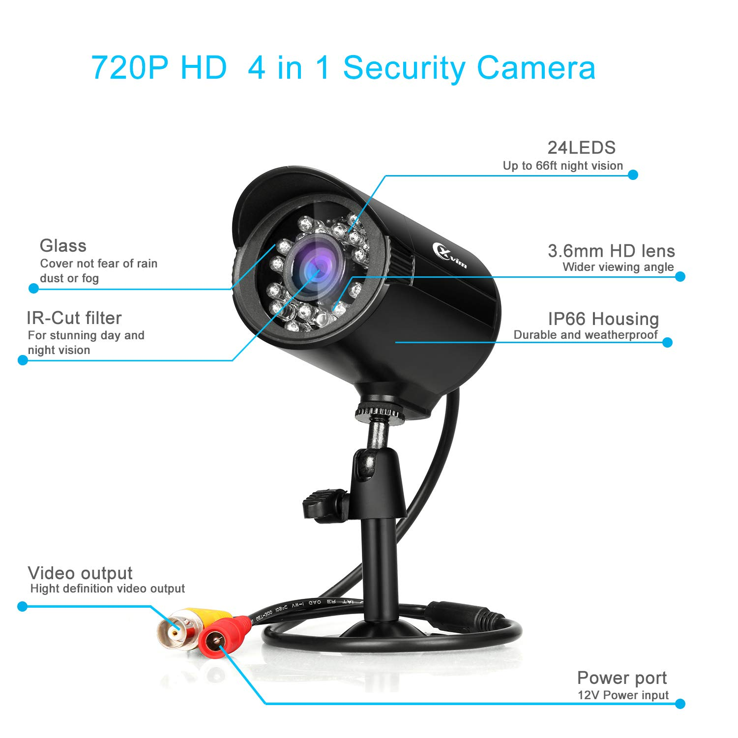 XVIM 8 Channel 720P Security Camera System Video DVR Recorder with 4X HD 720P Indoor Outdoor Weatherproof CCTV Cameras 1TB Hard Drive,Motion Alert, Easy Remote Access on Phone by X-VIM (Image #5)