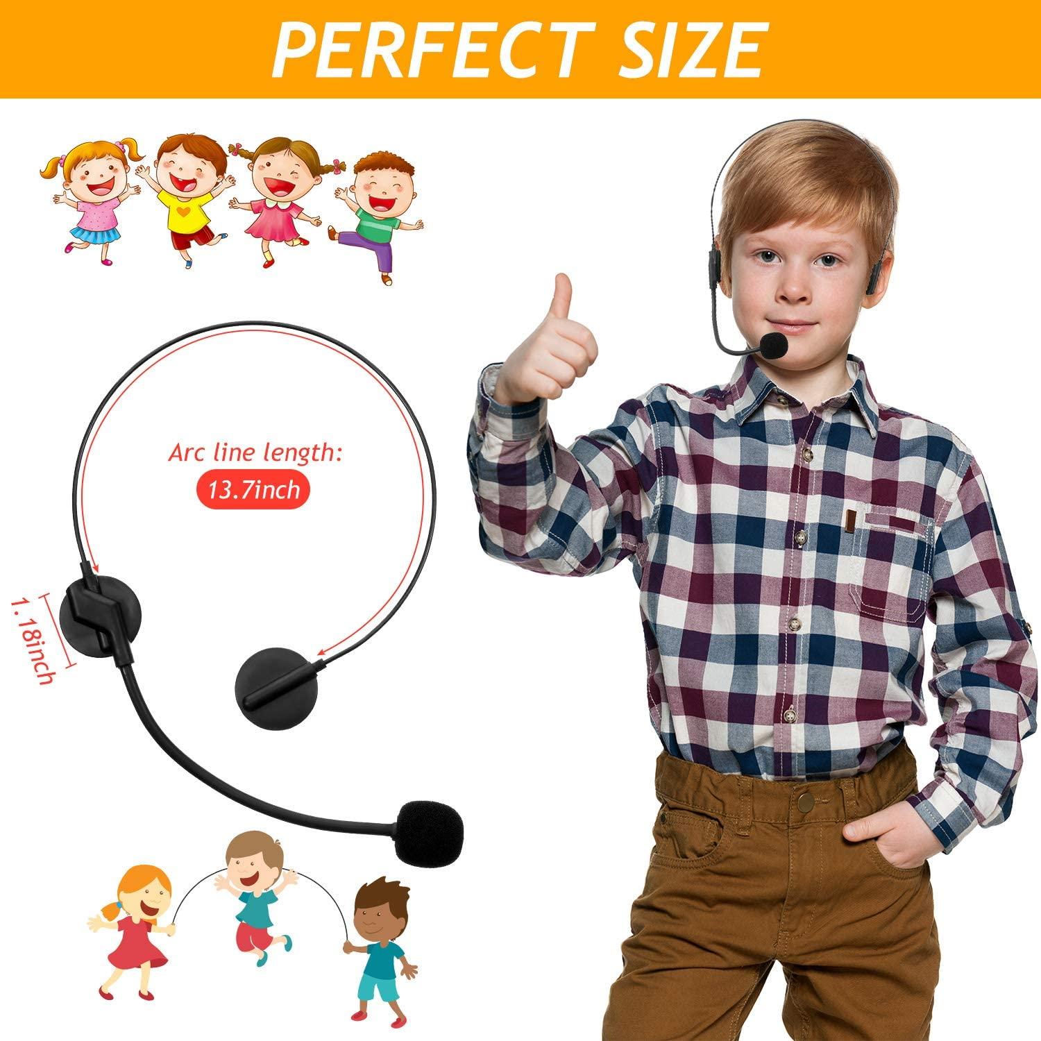 Toy Microphone Set 6 Pieces Rockstar Costume Toy Headset 12 Pieces 10 Inches Wireless Inflatable Multicolored Microphone Set Toy Headpiece Microphone for Makeup Party Props Masquerade