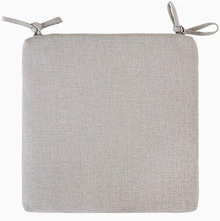 100% Cotone E Lino Colore Solido Cuscini per Sedie Esterno