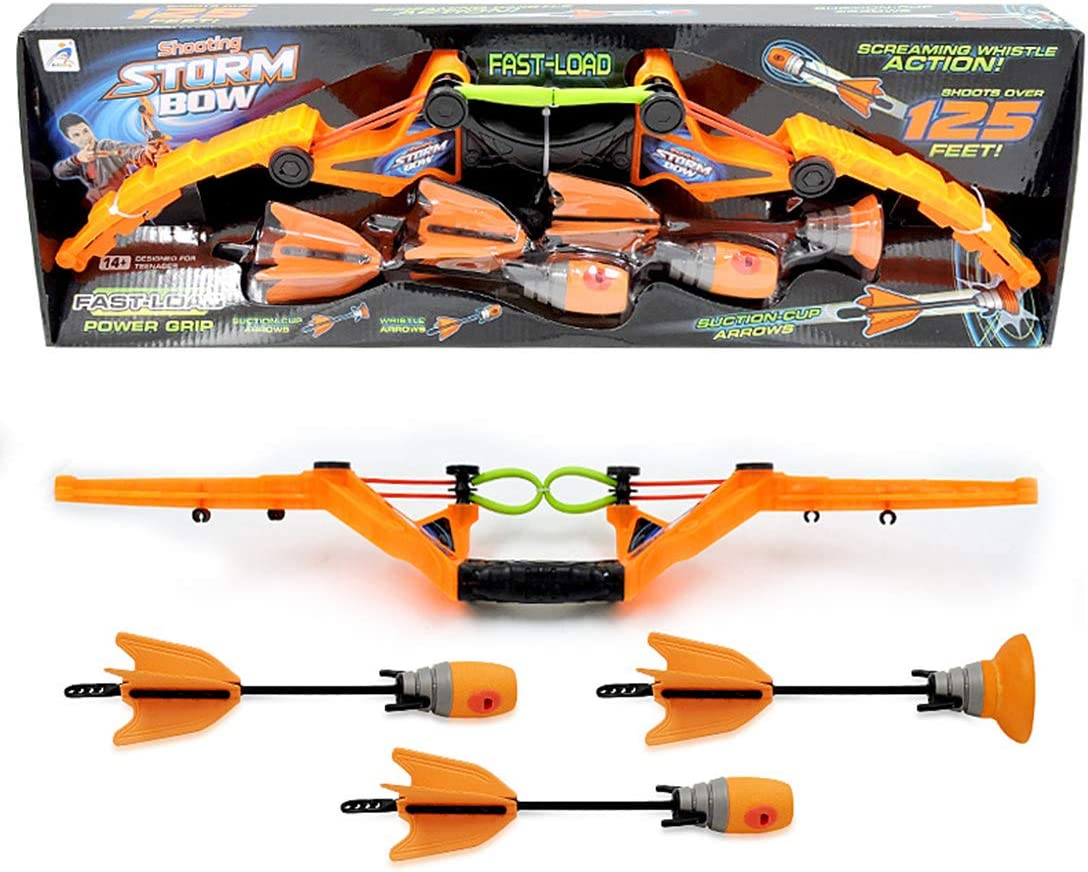 Weego Bow and Arrow Set for Kids Toy Archery Set with Whistle Arrow and Sucker Arrow