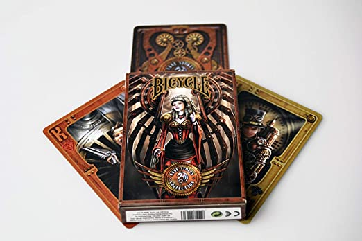 Bicycle- Steampunk by Anne Stokes Baraja Cartas de Poker de colleción, Color marrón (Naipes Heraclio Fournier 1029810)