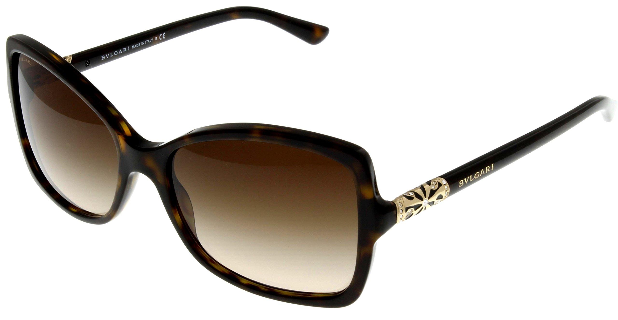 Bvlgari Sunglasses Womens Havana Square BV 8139B 504/13