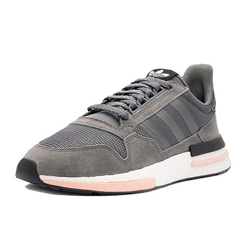 c2715f73c5ba adidas Men s ZX 500 RM Grey Cloud White Clear Orange B42217 (Size  10.5)   Amazon.fr  Chaussures et Sacs