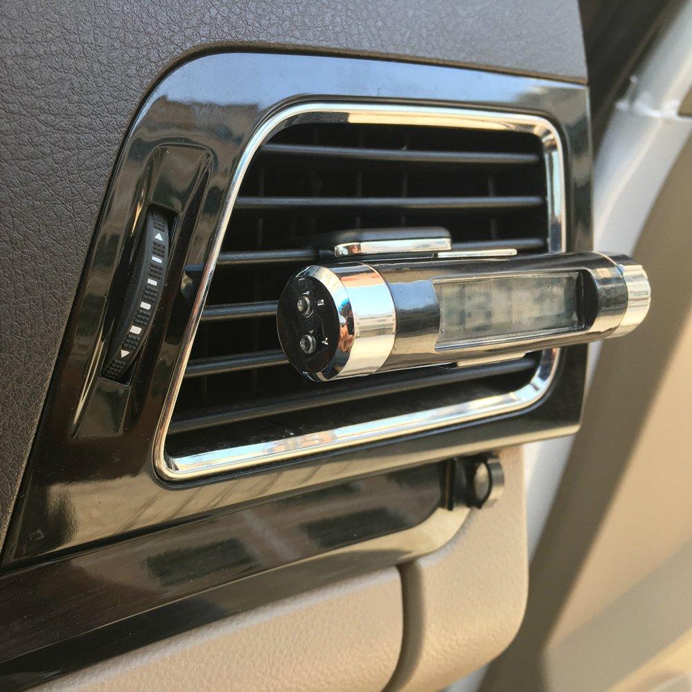 OPSLEA Digital LED Auto Uhr Thermometer Elektronische Zeit Klimaanlage Vent Hintergrundbeleuchtung Temperatur Spannung Meter