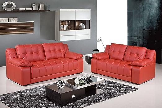 The Sofa & Bed Factory Costella - Juego de sofá de Piel ...