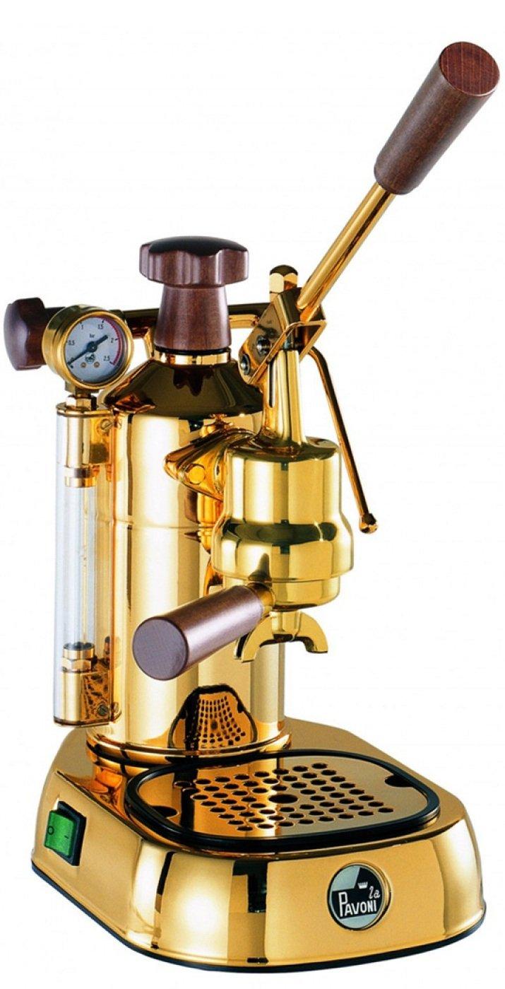 la Pavoni Professional PDH Independiente Semi-automática Máquina espresso 1.6L 16tazas Oro - Cafetera (Independiente, Máquina espresso, 1,6 L, De café ...