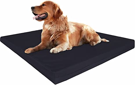 Amazon Com Dogbed4less Xl Orthopedic Cool Foam Dog Bed Durable Washable Canvas Cover Waterproof Liner And Extra Case Fit 48x30 Crate Pet Supplies