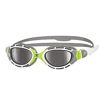 Zoggs Predator Flex Titanium Gafas de natación, Unisex, Grey/Green, Talla única