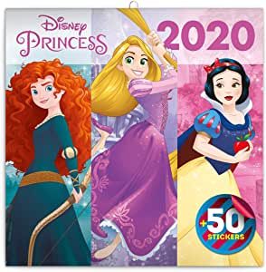 Calendario de Pared Oficial de Princesa Disney 2020 (30 cm