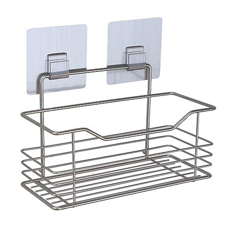 Amazon.com: Organizador de baño de acero inoxidable para ...