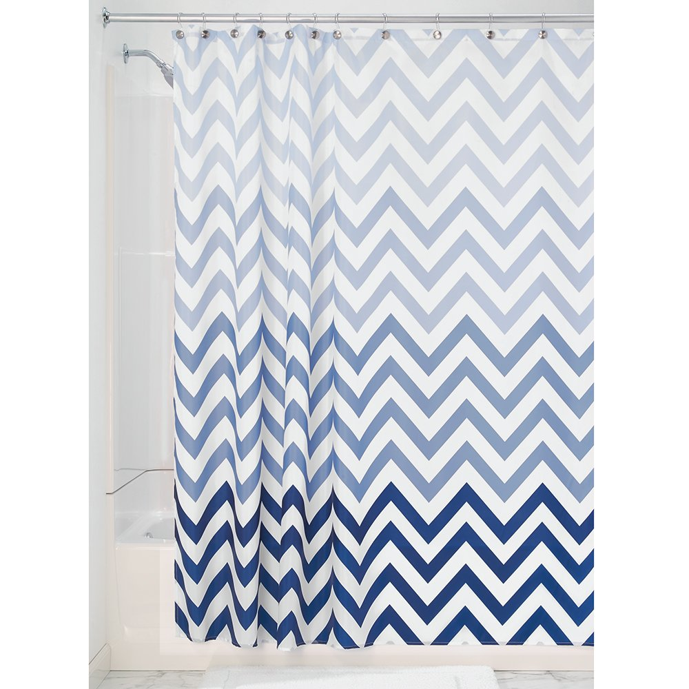 InterDesign Ombre Chevron Fabric Shower Curtain, 72-Inch x 72-Inch, Blue  Multi - Shower Curtains Amazon.com