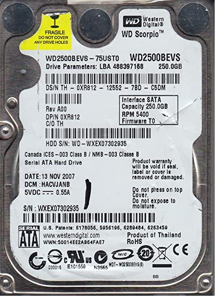 DRIVERS FOR WD2500BEVS SATA
