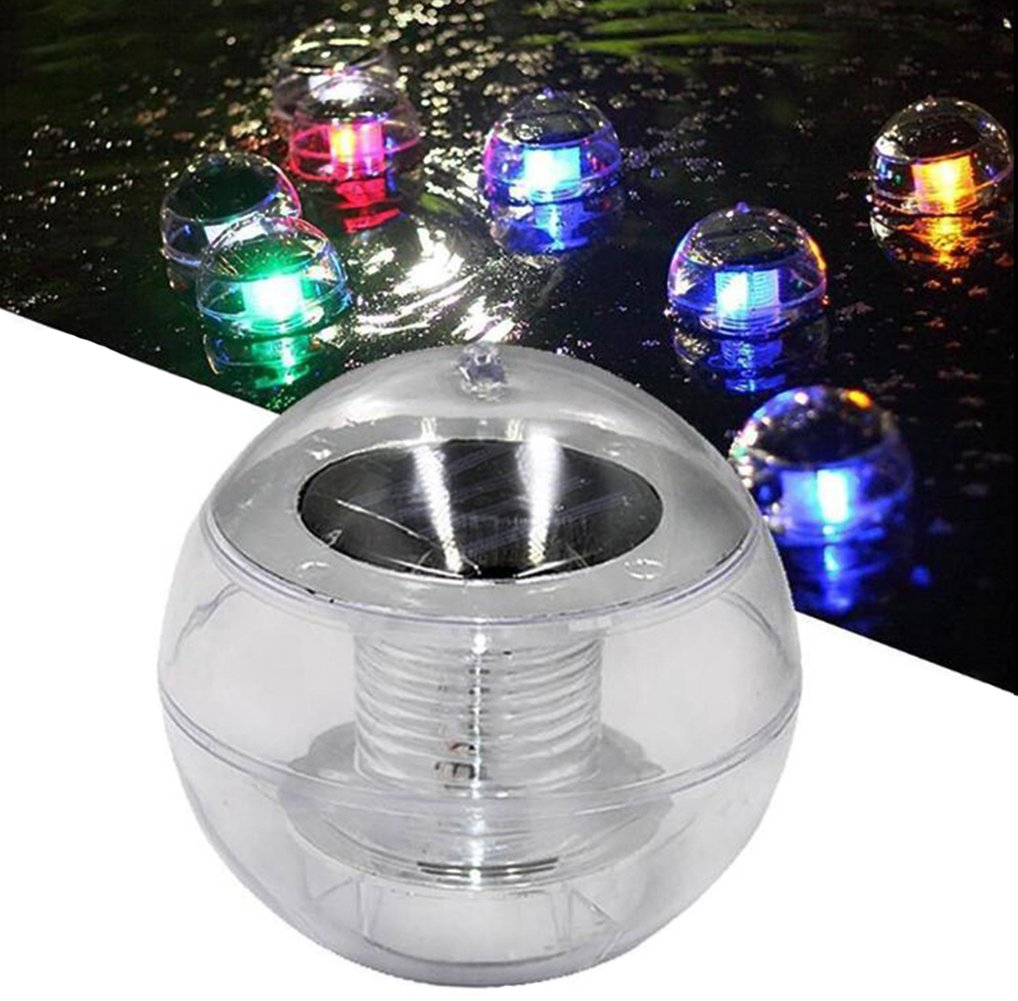 PiscatorZone Solar Power Floating Pool Light, Changing LED Colorful Globe Night Lamp Ball for Swimming pool,Garden Décor, Party Lantern, and Pond Path Landscape