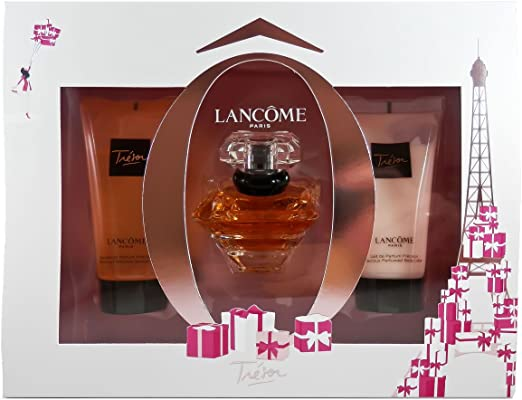 Lancôme Trésor Femme - Set de regalo, pack de 1 (Eau de Parfum 30 ml, loción corporal 50 ml, gel de ducha 50 ml): Amazon.es: Belleza