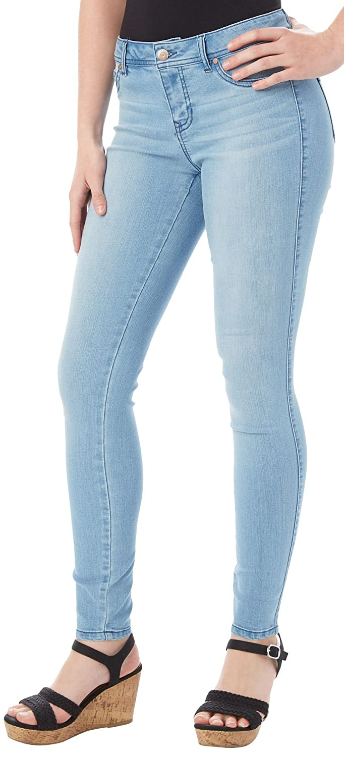 Blue Spice Juniors Faded Whiskered Skinny Jeans