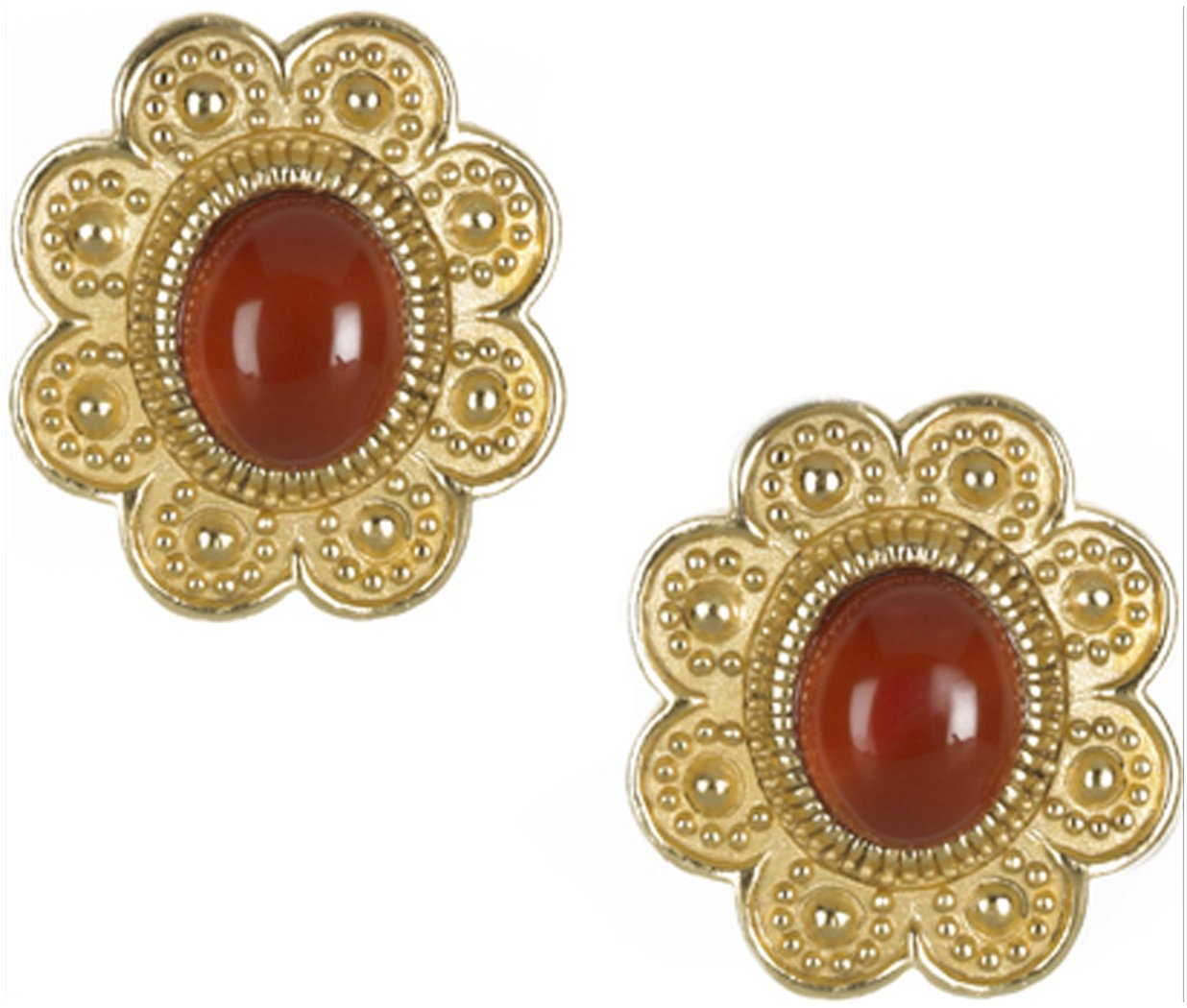 Sale - Museum Reproduction of Egyptian Carnelian CLIP Earrings, From Our Museum Store Reproductions