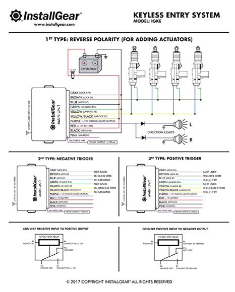 71EyVWskhjL._SX466_ amazon com installgear keyless entry system & trunk pop release keyless entry relay wiring diagram at soozxer.org