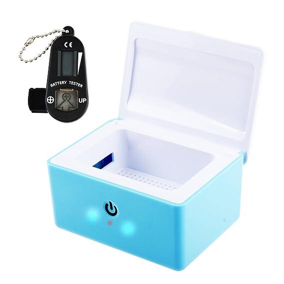 REAQER audífono secador deshumidificador y coclear electrónica secador UV-C desinfección secador y Probador de batería para audífonos: Amazon.es: Salud y ...