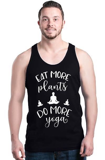 Shop4Ever Eat More Plants Do More Yoga Mens Tank Top Vegan Tank Tops