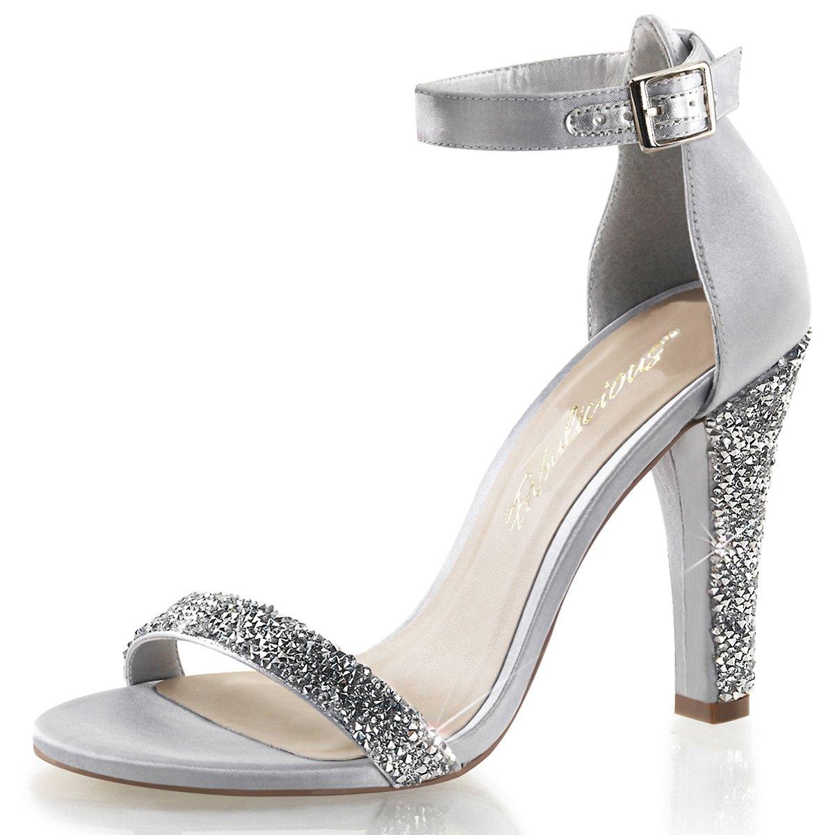 72bfa453c35 Summitfashions Womens Rhinestone Bridal Shoes Ankle Strap Sandals Closed  Back 4 1/2 Inch Heels