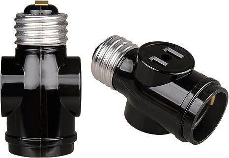 2 pack Leviton Outdoor Socket 600 watts 220 volts Medium Black