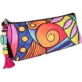 All Things Sundar Fabric Multi-coloured Women's Pouch