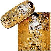 VON LILIENFELD Estuche Gafas Arte Gustav Klimt Adele Funda Ligeramente Estable Colorido Regalo Mujer Hombre