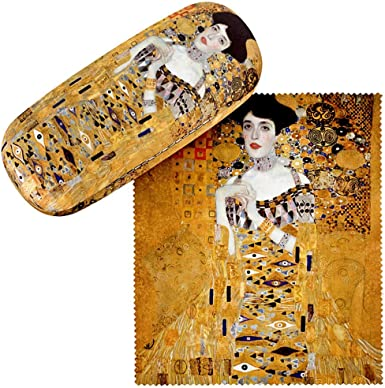 Lady with Fan VON LILIENFELD Glasses Case Present Cleaning Cloth Spectacle Cases Lightweight Stable Art Gustav Klimt