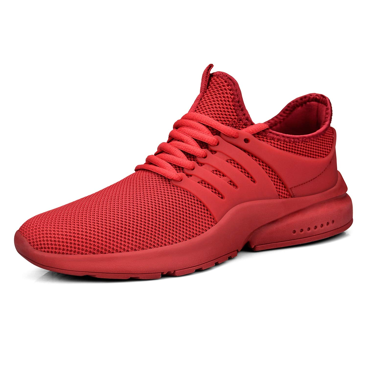 Feetmat Mens Walking Outdoor Lightweight Breathable Shoes Red Running Shoes for Boys Gym Athletics Tennis Sneakers Red 7M by Feetmat