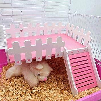 Caseta de animales pequeños, plataforma de madera, para hámster, gerbil, cobaya, rata, ratón, chinchillas, ardilla: Amazon.es: Productos para mascotas