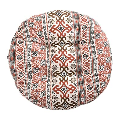 Leono Freedi Chair Pads Round Seat Cushion Print Cotton Tatami Winter Warm Cushion for Home Office Outdoor Indoor (20X20X4.5 Inch): Home & Kitchen