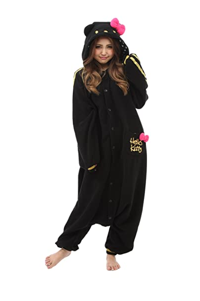 Fleece Pijama Kigurumi - Hello Kitty Negro