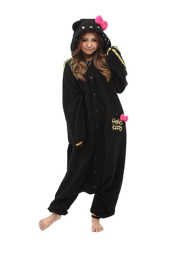 Amazon.com: Hello Kitty Eternal Kigurumi (Black), Adults, Black: Clothing