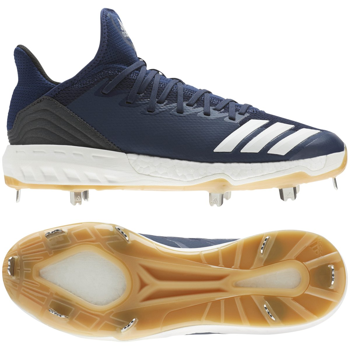 adidas Icon 4 Cleat - Men's Baseball 6.5 Collegiate Navy/White/Black by adidas (Image #1)