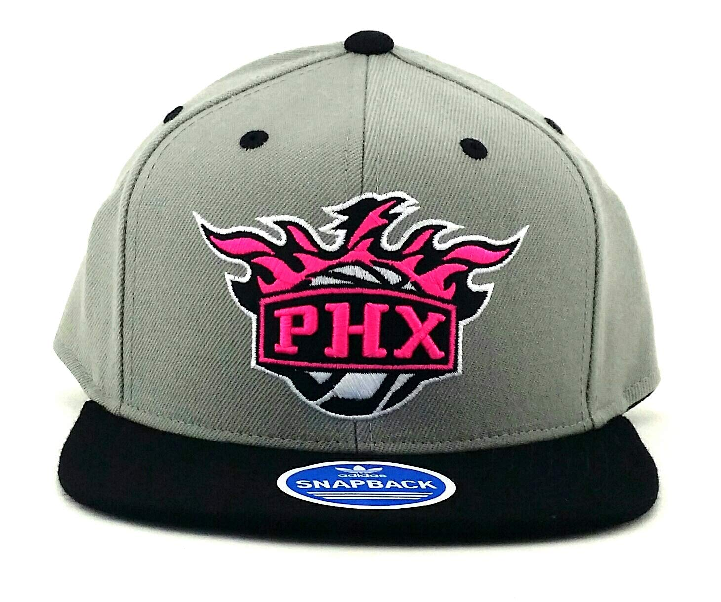 83d081dc3 Amazon.com : adidas Phoenix Suns New PHX NBA Neon New Vibe Gray Pink ...