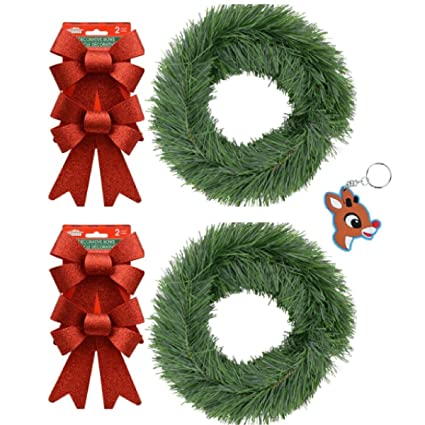 christmas garland for front door porch railing mantel fence and more 15 feet