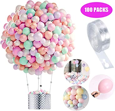 Globos Pastel 100-PACK, Macaron Pastel Color Latex Balloon para la ...