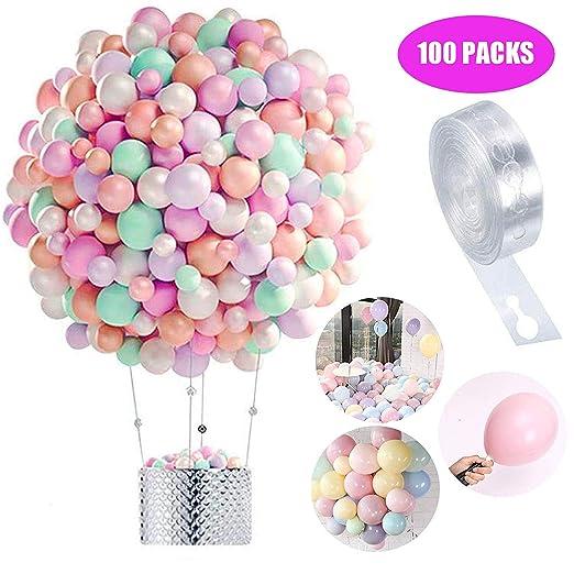 Globos Pastel 100-PACK, Macaron Pastel Color Latex Balloon ...