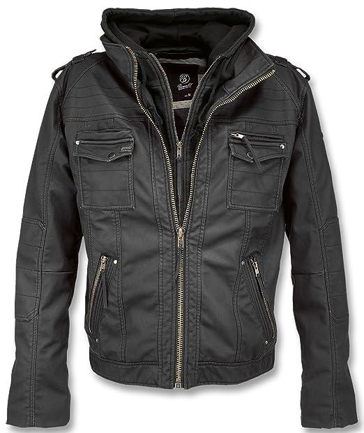 Brandit –Chaqueta de piel Para Hombre, modelo vintage,